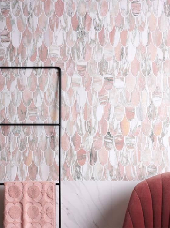 Lông vũ Marble Pink trang trí
