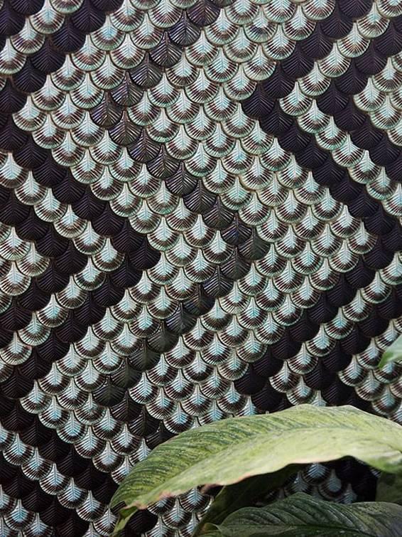Gạch lông vũ 3D ốp ziczac Celestino