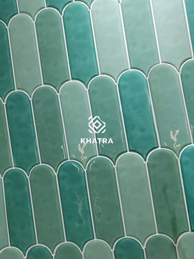 Phối màu gạch 90300-other Gradient Green ốp tường