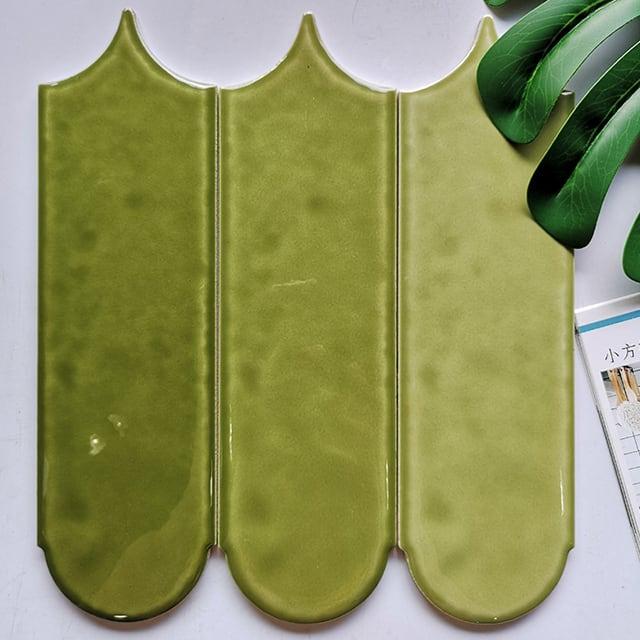 Gạch màu Olive hình lông vũ
