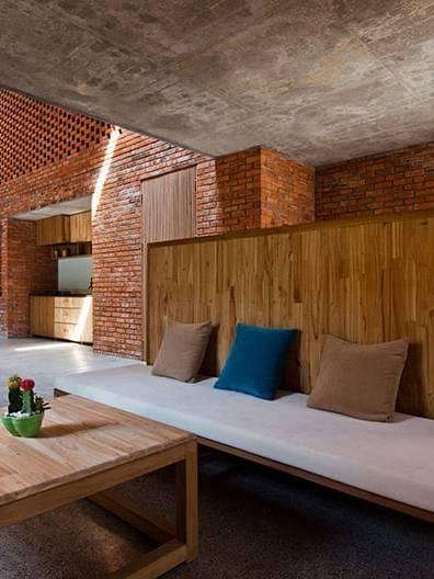 Thiết kế nội thất với gạch Tuynel