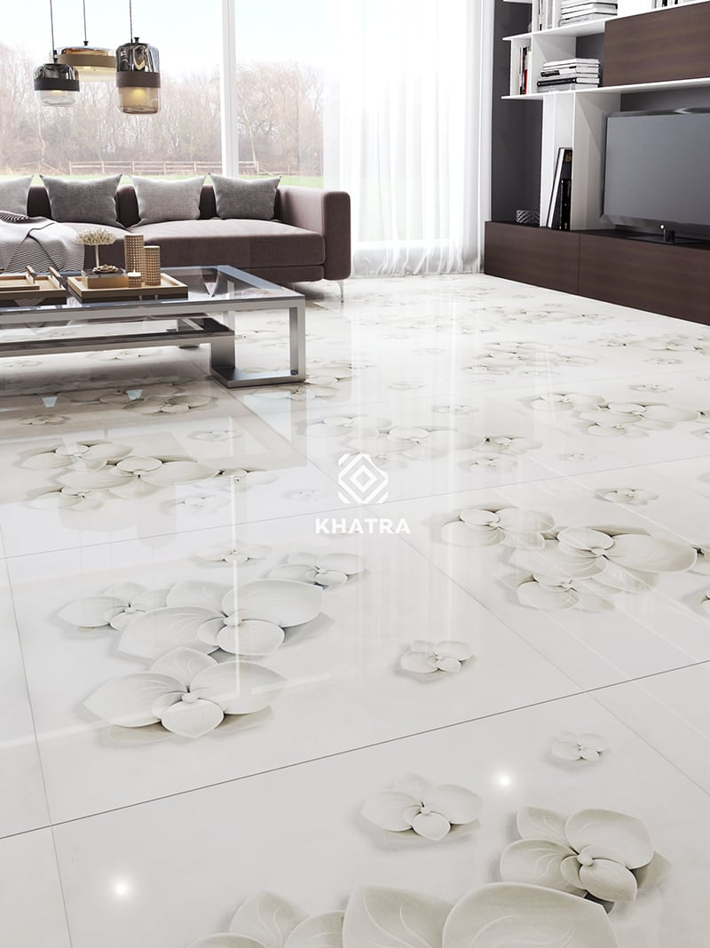 Gạch 8371 - 80x80 bóng lát phòng khách