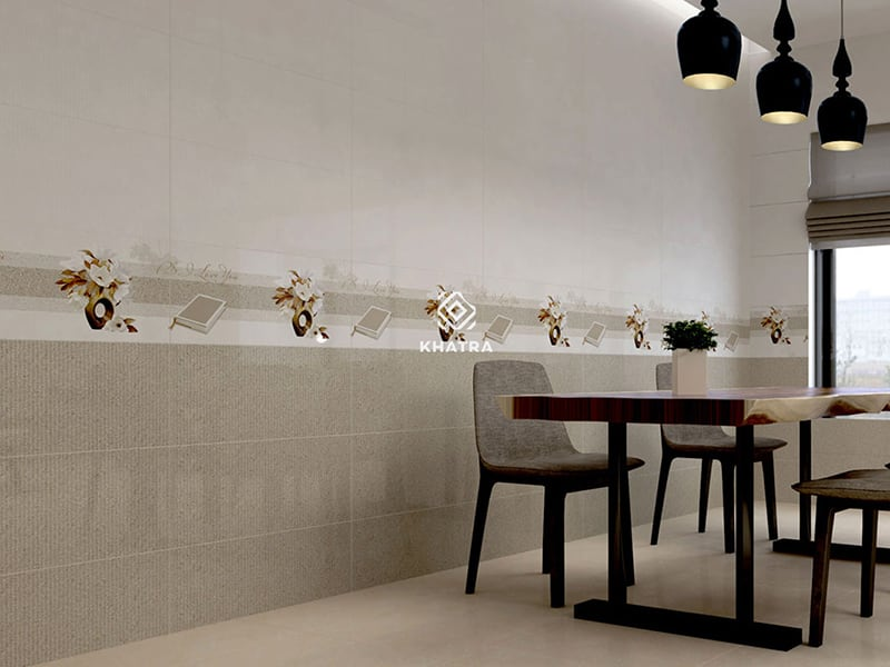 Ceramic Beige ốp phòng ăn căn hộ