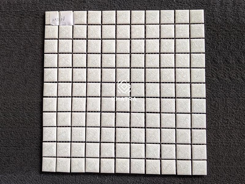Gạch mosaic men rạn trắng KKLA08