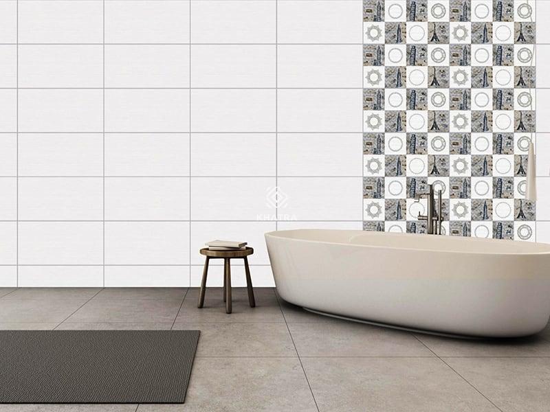 Gạch men 30x60 ốp tường toilet