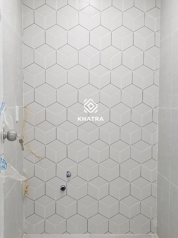 Gạch lục giác 3D035 ốp tường toilet