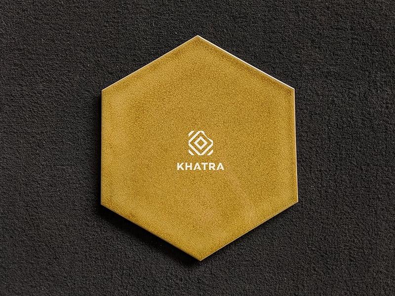Gạch lục giác men rạn Gold