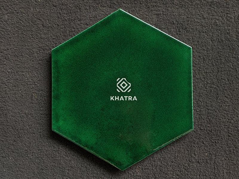 Gạch lục giác men rạn Green