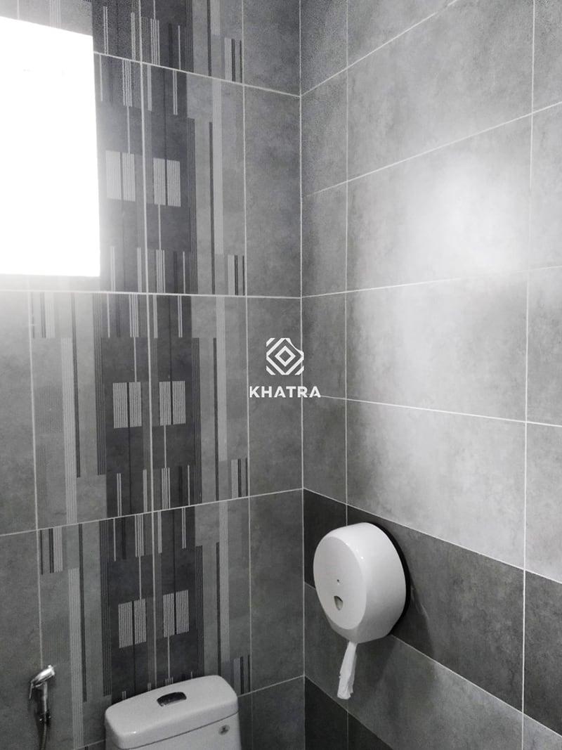 Phối các mẫu gạch men ốp tường Toilet