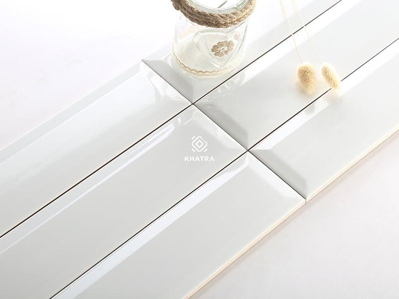 Gạch thẻ vát cạnh KHA-75300X White