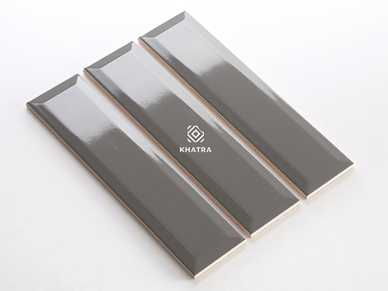 Gạch thẻ vát cạnh KHA-75304X Dark Grey