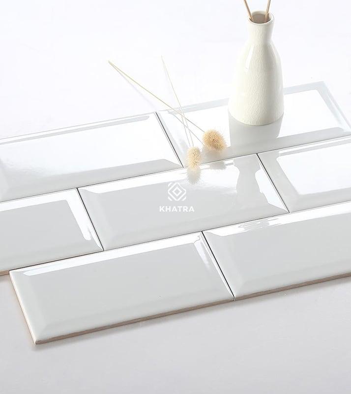 Gạch thẻ trắng 75x150