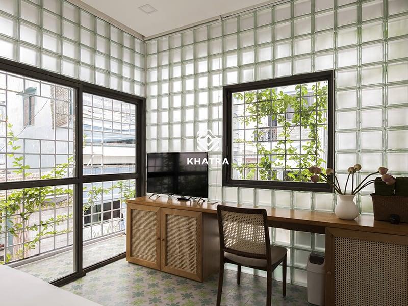 Glass Tiles ốp tường phòng ngủ