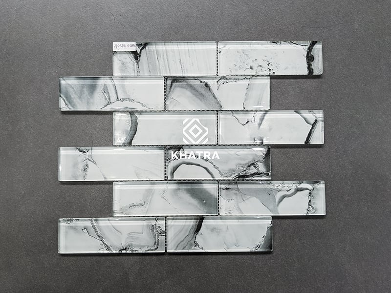Glass Mosaic Agate Stone