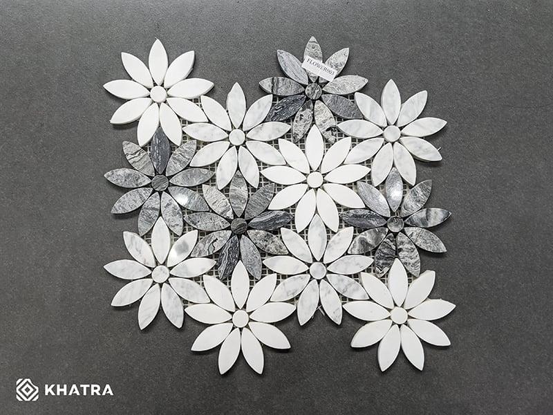 Mosaic đá Flower-003