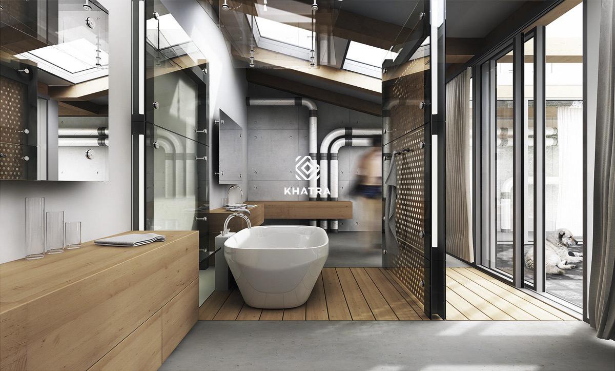 Mẫu nhà tắm hiện đại
