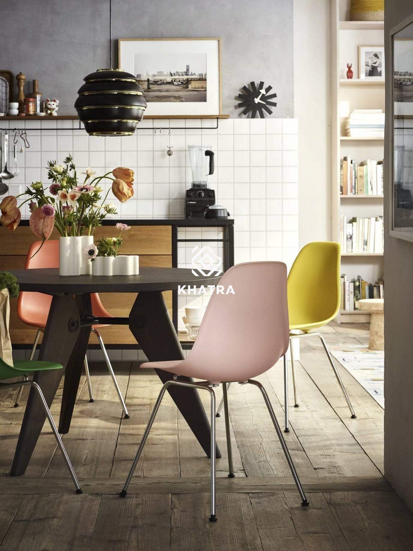 Bộ ghế nhựa Eames