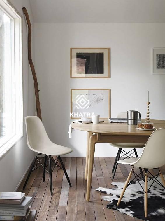 Ghế nhựa Eames trắng