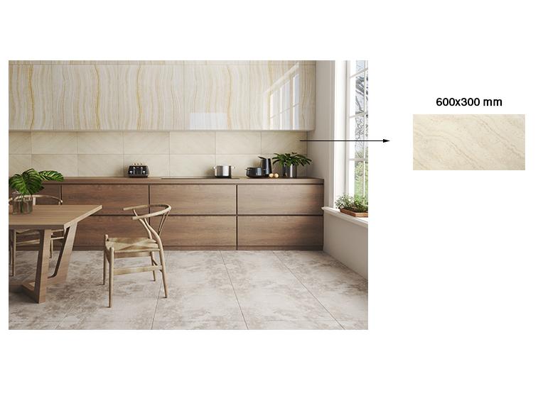 Ốp tường bếp bằng gạch 30x60