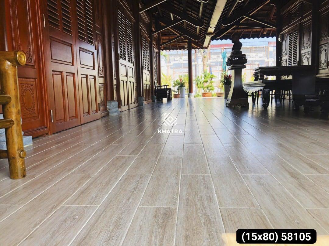 Hình gạch gỗ KHA-58105 lát nền