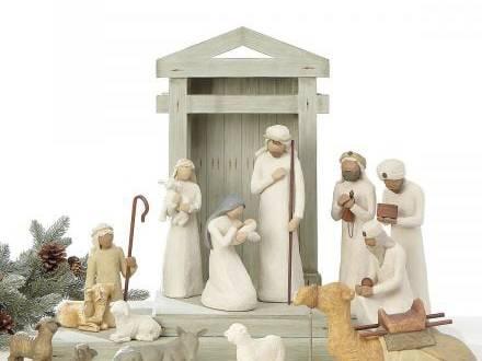 Bộ tượng bằng gỗ trang trí Giáng sinh