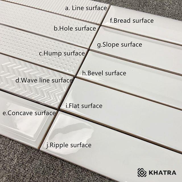 Các loại bề mặt của gạch thẻ