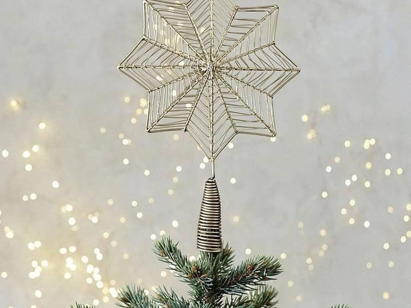 Chọn chóp hình ngôi sao trang trí cây thông