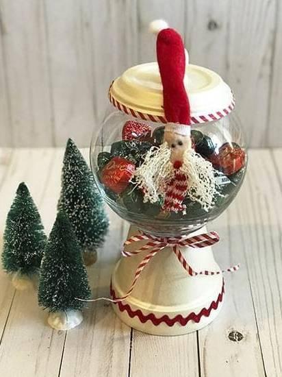 Hũ kẹo trang trí cho giáng sinh