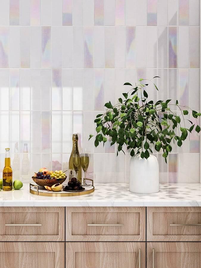 Gạch hologram ốp tường bếp