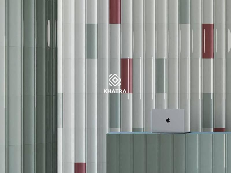 Phối màu gạch Bamboo ốp tường