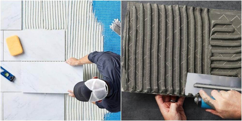 Kiểm tra kết dính của gạch với sàn