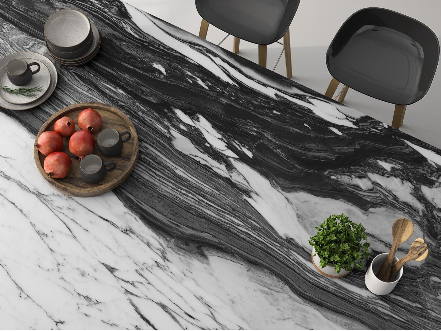 Arabescatto Marble được dùng làm mặt bàn