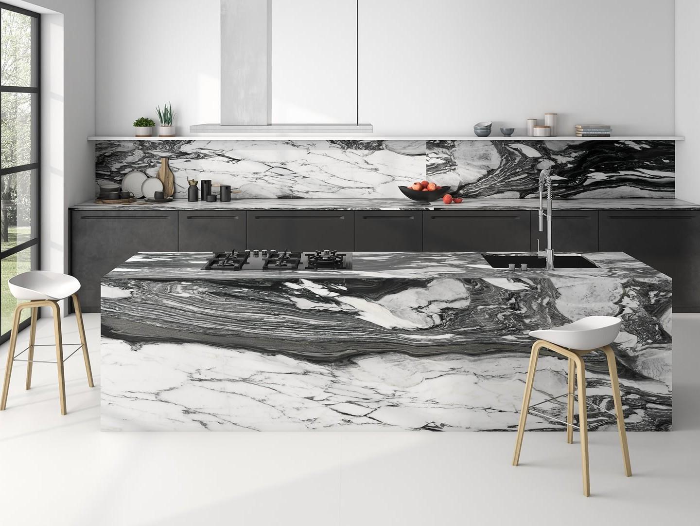 Gạch giả đá Marble ốp kệ bếp