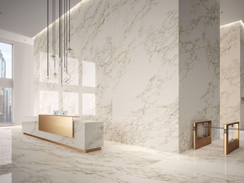 Gạch vân đá Marble ốp lát sảnh căn hộ