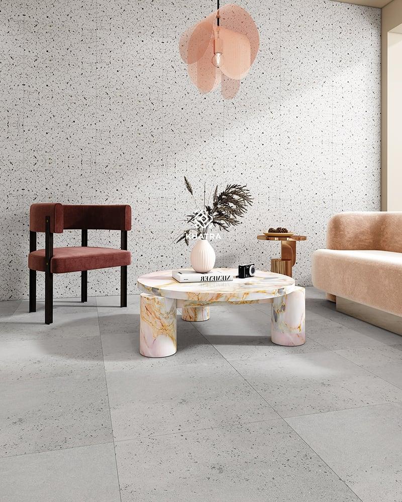 Phối gạch Granite 9R-1SP66H09 và Terrazzo D21637-N1