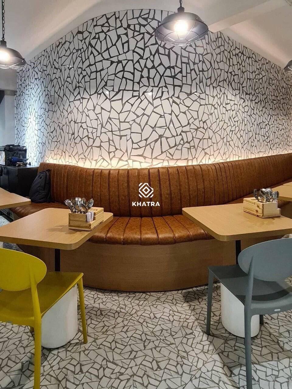 D6736 ốp tường và lát nền nhà hàng