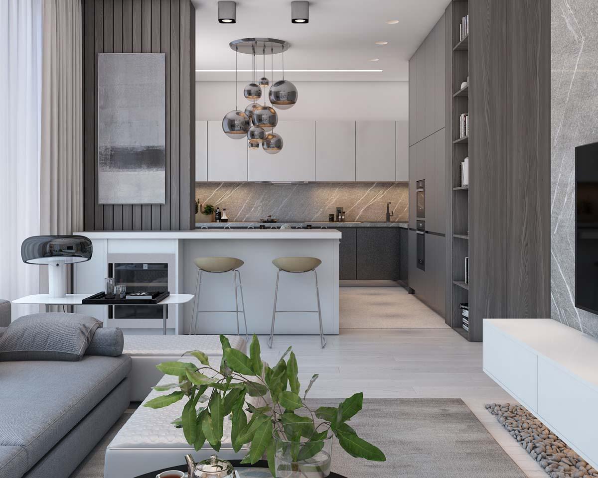 Thiết kế nhà ở sử dụng nội thất màu nâu đất