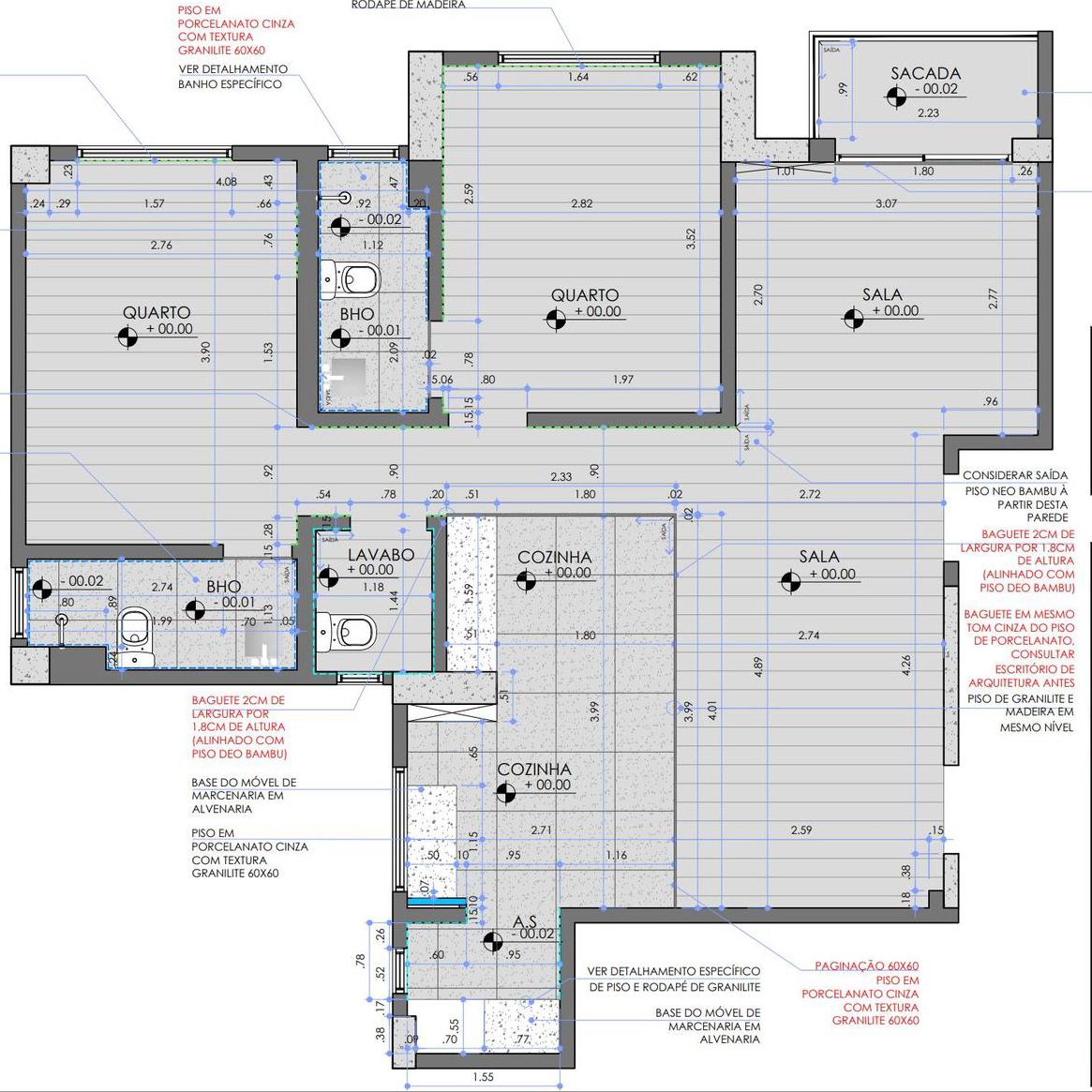 Mặt bằng căn hộ chung cư 70m2 2PN