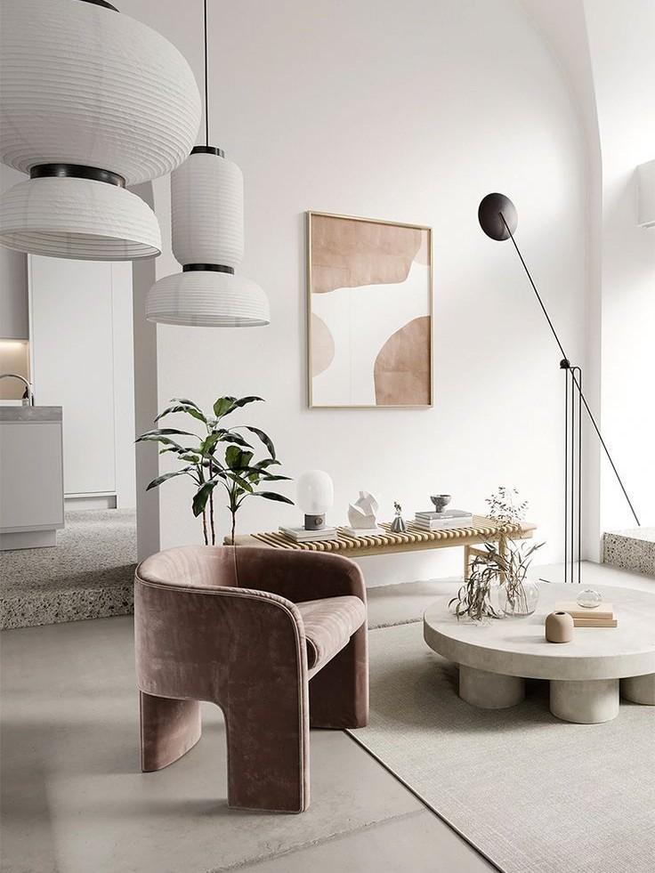 Phòng khách nhà ở thiết kế Minimalist
