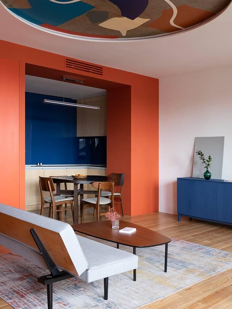 Thiết kế bếp mở của căn hộ 2PN