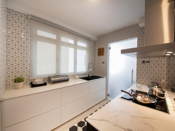 Thiết kế căn hộ chung cư với hoạ tiết hình học