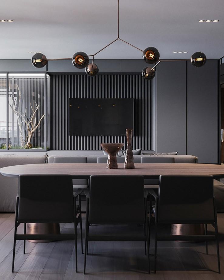 Thiết kế phòng khách lush and luxury
