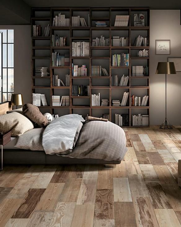 Thiết kế phòng ngủ với cửa kính lớn