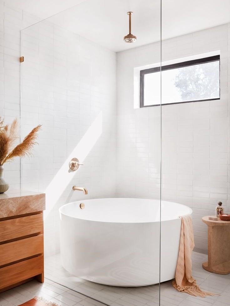 Thiết kế phòng tắm tối giản