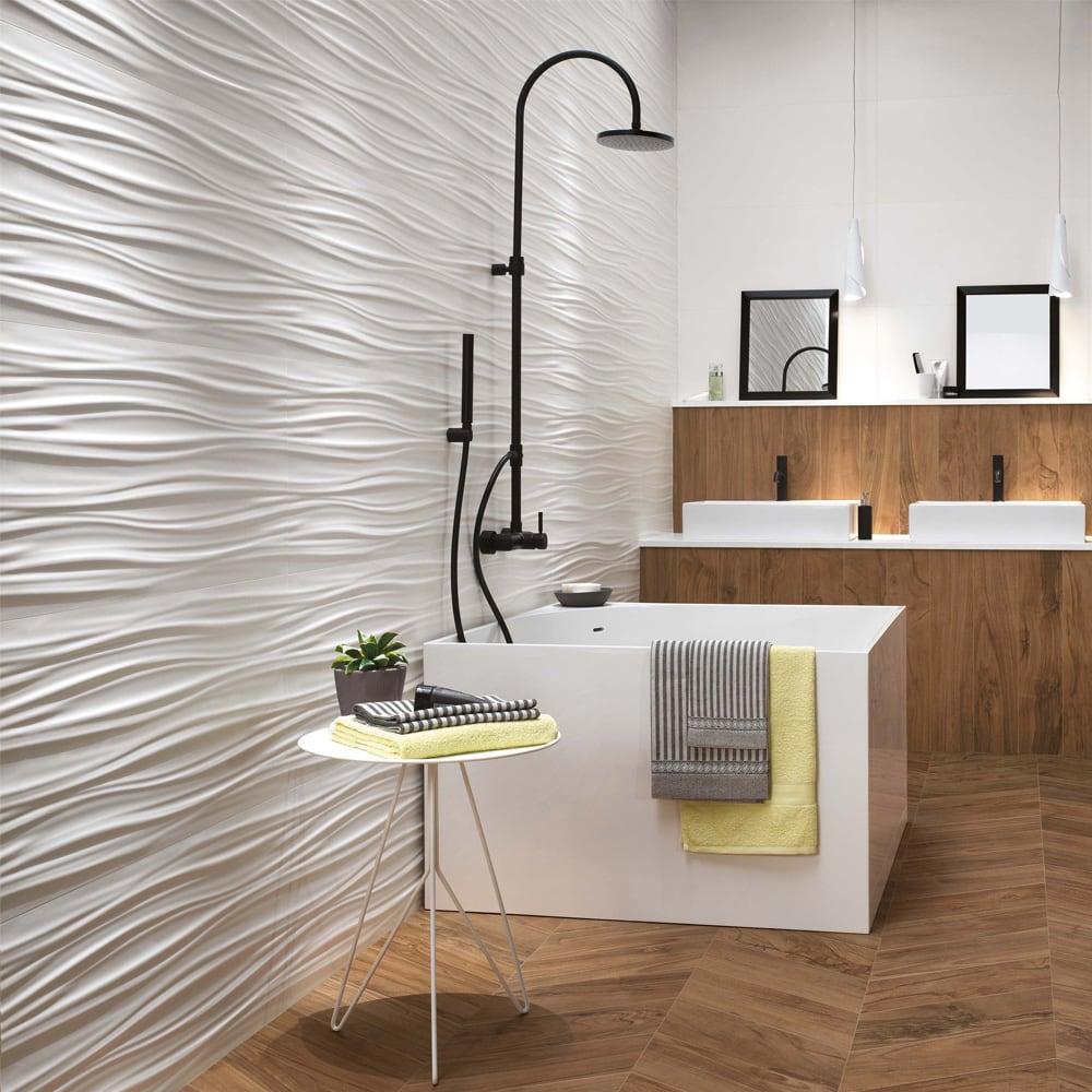 Gạch ốp tường nhà tắm 3D