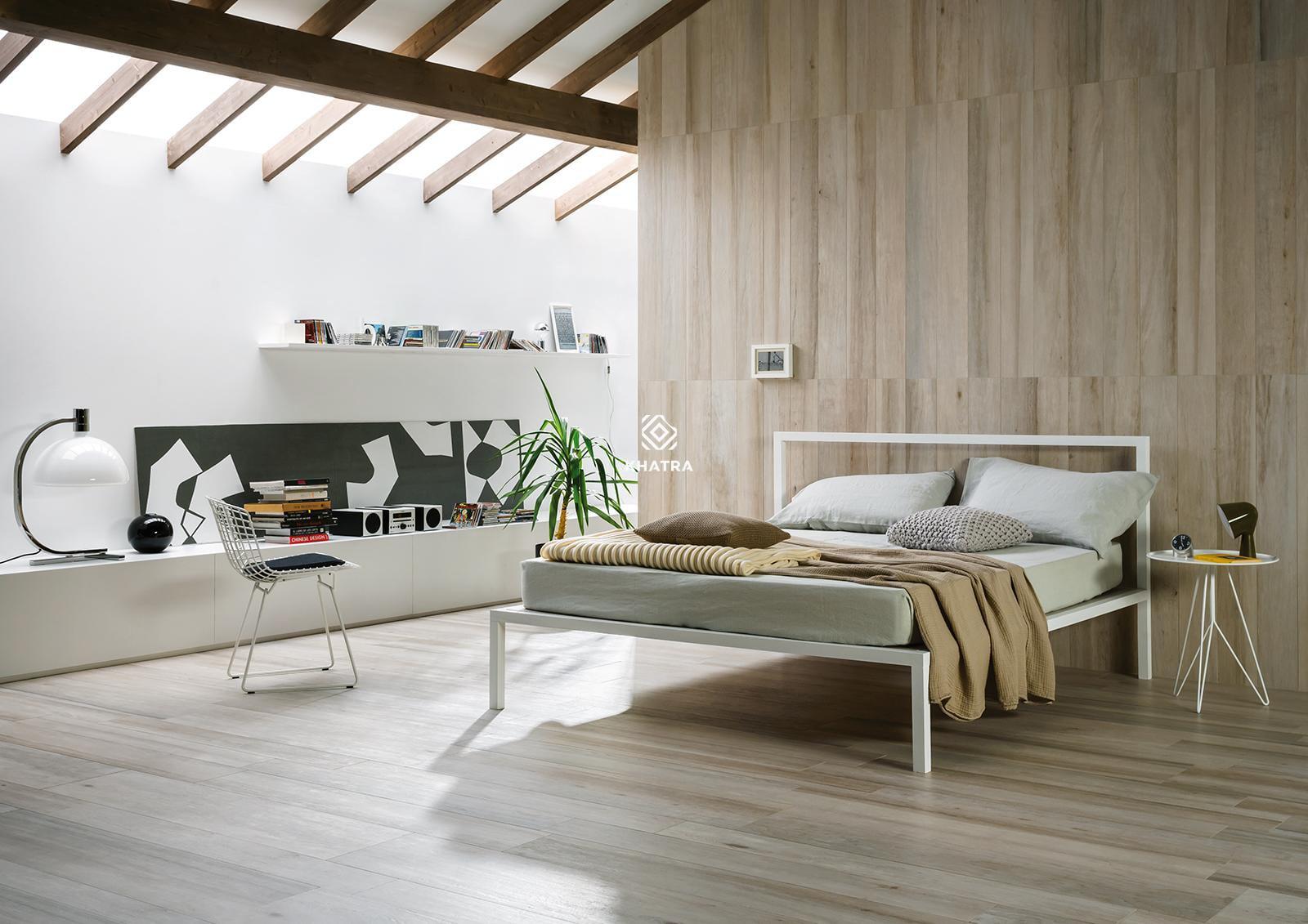 Gạch vân gỗ ốp phòng ngủ