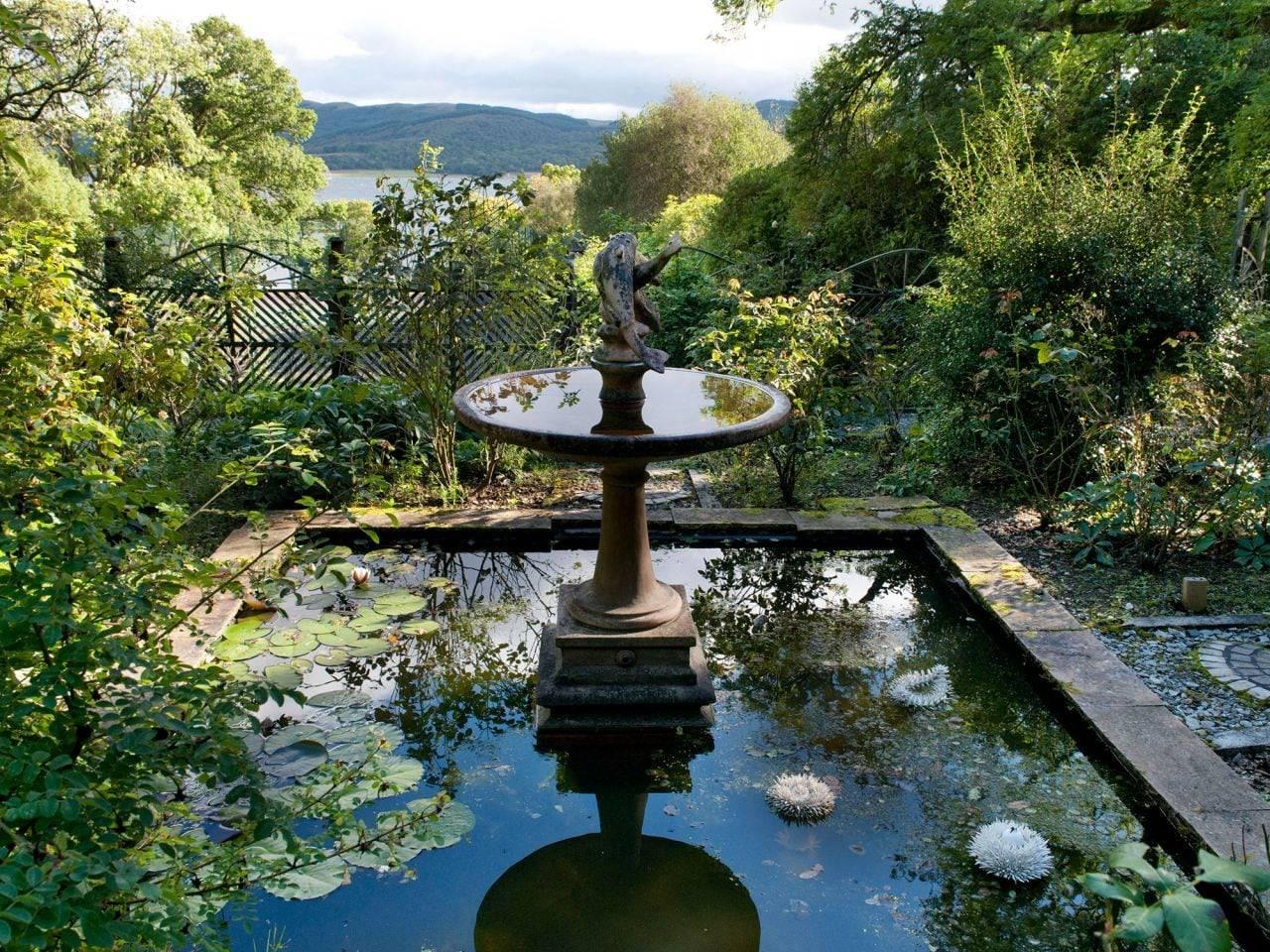 Thiết kế vườn xanh Nhật Bản với hồ nước