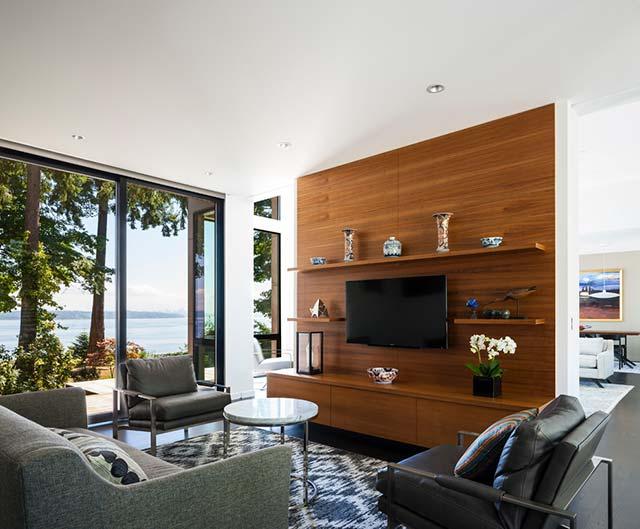 phòng khách có gỗ