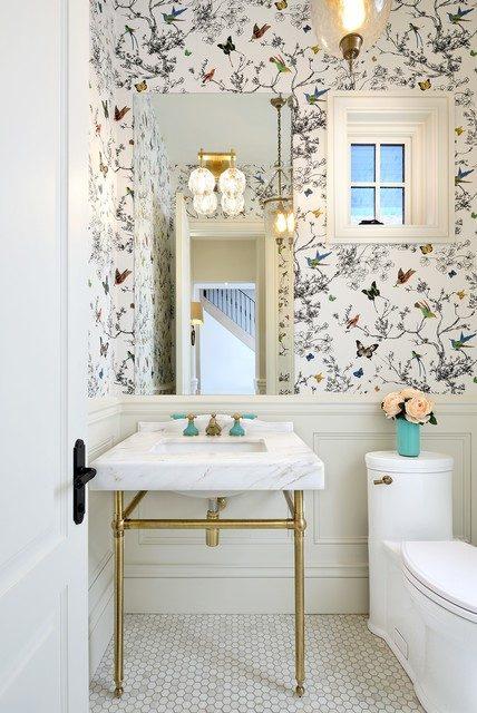 Giấy dán tường trang trí phòng tắm