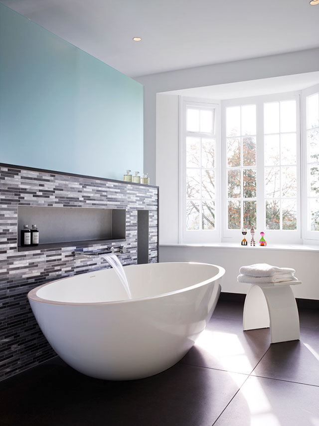 sử dụng gạch mosiac trong phòng tắm